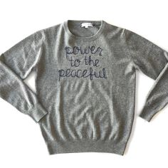 Lingua Franca Power to the Peaceful Sweater