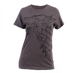 Game of Thrones Distressed Stark Sigil Women's T-Shirt    ...I only want this because my boyfriend is a bit of a Stark.