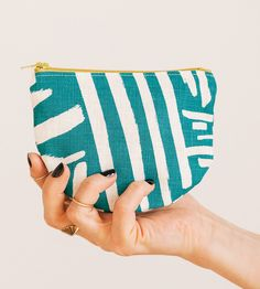 Hand-Painted Marks Pattern Zip Pouch by Such Sweet Tierney on Scoutmob