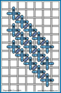 Mini Cross Diagonal Stitch More