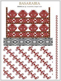 Cusaturi populare - Pagina 4 Cross Stitch Borders, Cross Stitch Designs, Cross Stitching, Cross Stitch Patterns, Folk Embroidery, Embroidery Patterns, Knitting Patterns, Mexican Embroidery, Peyote Patterns