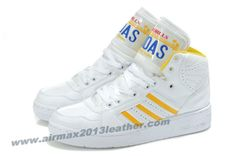 Adidas X Jeremy Scott License Plate Shoes White Yellow For Sale