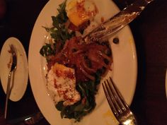 Beef Heart Schnitzel with Fried Egg, Capers, and Rocket: Acme Food and Beverage- Dallas, TX