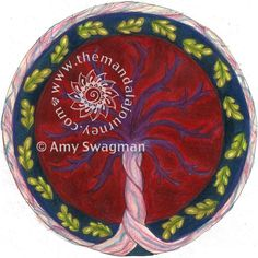 Beautiful mandala placenta by the talented Amy Swagman.  www.themandalajourney.com