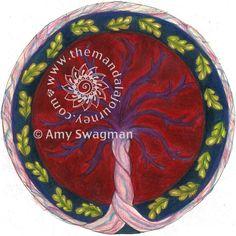 Beautiful mandala placenta by the talented Amy Swagman.  www.themandalajourney.com