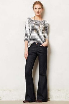 Anthropologie - Pilcro Stet Flare Jeans ... my farovite every day jean, with a tee and chucks, with a blouse and boots, with a tank and sandals