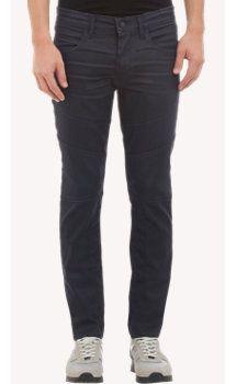 J Brand Waxed Denim Doyle Moto Jeans