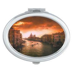 Beautiful historic venice canal italy makeup mirror - romantic gifts ideas love beautiful