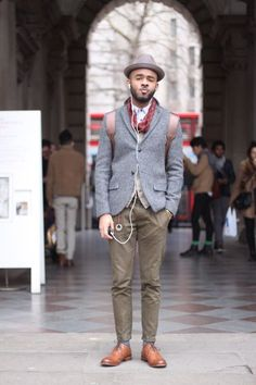 Tweed, chinos and shoes = perfect.