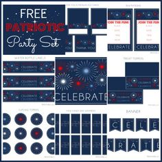 Free patriotic party printables, perfect for Memorial Day and July 4th! #freeprintables #memorialday #july4th