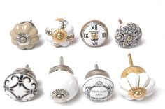 8 -Mixed Vintage Shabby Chic Cupboard Knobs Drawer Kitchen Knobs Cabinet Knobs