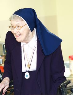 Happy nun, sisters of the holy child Jesus