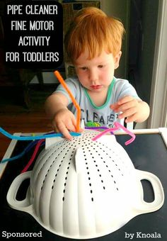 Pipe Cleaner Fine Motor Activity for Toddlers *simple + easy.