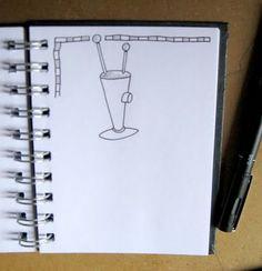 Ilustrador Alexiev Gandman: Paso a paso para dibujar un robot