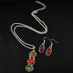 925 Silver Store Fashion Colorful Synthetic Amber Necklaces And Earrings Sets Wedding Jewelry Sets handmade silver jewelry *** Continue to the product at the image link. 925 Silver, Silver Jewelry, Sterling Silver, Amber Necklace, Pendant Necklace, Wedding Jewelry Sets, Handmade Silver, Earring Set, Image Link