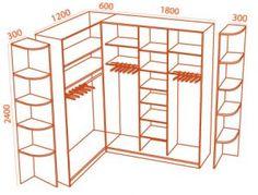 Гардеробная комната своими руками чертежи и схемы фото 952