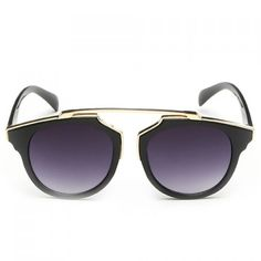 Chic Golden Metal Splicing Black Frame Sunglasses For Women USD Sunglasses Store, Wayfarer Sunglasses, Sunglasses Women, Beach Accessories, Fashion Accessories, Phone Accessories, Womens Glasses, Fashion Sale, Sunglass Frames