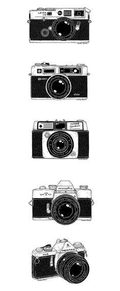 Vintage cameras on behance camera doodle, pen camera, camera art, video camera, Camera Drawing, Camera Art, Camera Doodle, Camera Sketches, Pen Camera, Video Camera, Camera Painting, Kamera Tattoos, Logo Foto