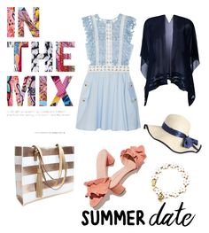 """""""Summer Date"""" by claudyabenedicta on Polyvore featuring self-portrait, D.Exterior, Loeffler Randall, Betsey Johnson and polyvorecontest"""