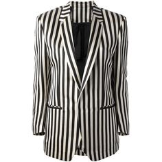 PETAR PETROV striped blazer (12.955 ARS) ❤ liked on Polyvore featuring outerwear, jackets, blazers, stripe jacket, long sleeve blazer, black and white stripe jacket, stripe blazer and petar petrov