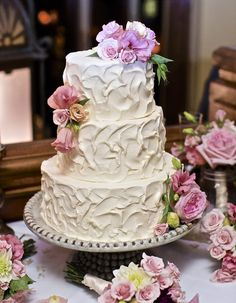 Classic Buttercream Cakes Wedding Cakes Photos on WeddingWire