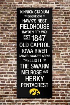 "Iowa Hawkeyes College Town Wall Art with Logo - 40"" x 16"" on HauteLook"