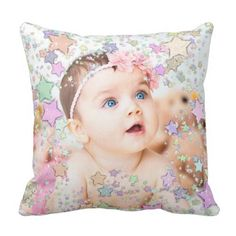 Starry Child Photograph Personalised Pillow. >> Learn more by clicking the picture link