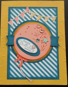 Cards 394- PENNY TOKENS STAMPIN SPOT: Celebrate Today Birthday Wishes!