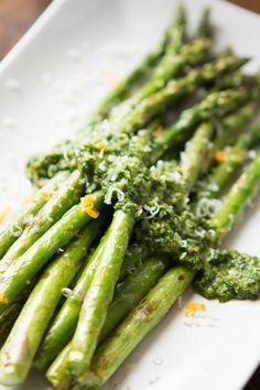 Cilantro Pesto Asparagus