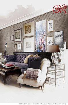 Эскиз интерьера квартиры в стиле лофт