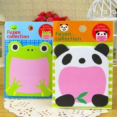 kawai sticky notes papeleria planner supplies panda post it kawaii papeterie articoli di cancelleria animal cute stationery