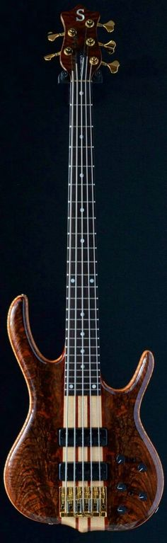 A 5-string Kent Smith Bass owned by a friend.