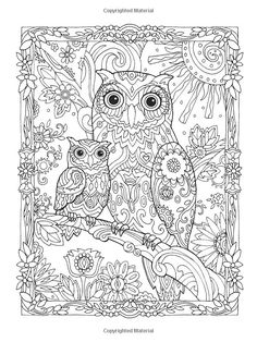 Another cheeky owl pic for everyone! I really like this ones detailing, its unique! check out more like this one at bestadultcoloringbooks.com