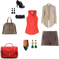 For work, or out on the town.  Throw on some black tights, and wear it all winter.  Love the green and coral together.