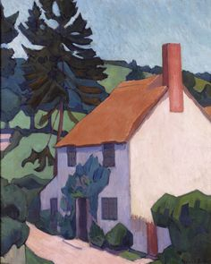 Robert Bevan. Devon Cottage. 1920-22. Luppitt, Devon.