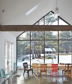 interior of Floating Farmhouse in Eldred, New York / by Givonehome (photo by Mark Mahaney)