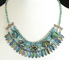 Gaia: 16″ Iridescent Shell Necklace