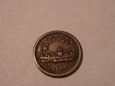 1863 CIVIL WAR OUR NAVY MONITOR SHIP TOKEN COIN