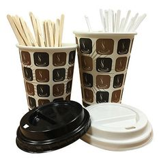 Mocha hot #drinks #paper cups 50 250 100 500 1000 coffee disposable lids #stirrer,  View more on the LINK: http://www.zeppy.io/product/gb/2/271666980143/
