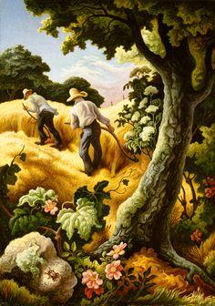 """""""Sealmaiden"""" 1943  Thomas Hart Benton (1889-1975)"""