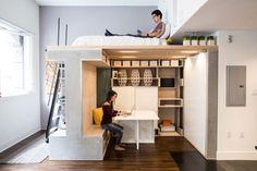 Apartamentos minúsculos precisam de soluções inteligentes.  ICOSA Design.