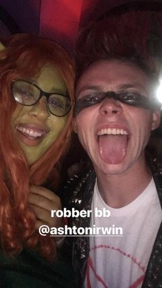 Ashton at Halsey's Halloween party last night (I think that's a fan but I'm not sure)
