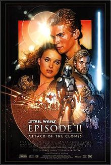 Star Wars Episode II: Attack Of The Clones (2002) - Ten years later, Anakin Skywalker shares a forbidden romance with Padmé, while Obi-Wan investigates an assassination attempt on the Princess and discovers a secret clone army crafted for the Jedi.