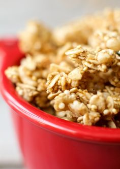 Easy Oil-Free Granola with lots of crunchy clusters!
