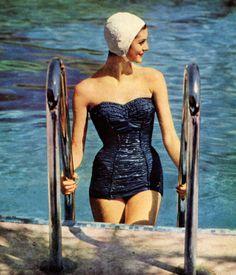 .Du Pont vintage bathing suit, 1955