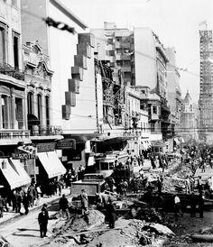 Ensanche de la calle Corrientes, Buenos Aires c. 1935. Inventario 332491. AGN