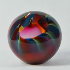 SPIRALE globe glass art by Peter Layton