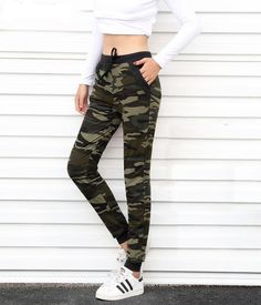 Camouflage Joggers Women Sweatpants Harem Camo Pants Drawstring Pantalones femme Mujer Loose Calca Female High Waist Pocket Buy With Off (Limited Offer) Camo Joggers, Joggers Womens, Jogger Sweatpants, Camouflage Pants, Camo Pants, Camouflage Fashion, Super Moda, Winter Rock, Pantalon Long