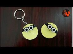 How to Make Quilling KeyChain / Minion / Tutorial / Design 9 Hello all, Welcome to Creative V Channel, here you can watch and learn how to do a lot of variou. Quilling Keychains, Paper Quilling, Minions, Creative, Youtube, How To Make, Jewelry, Design, Jewlery