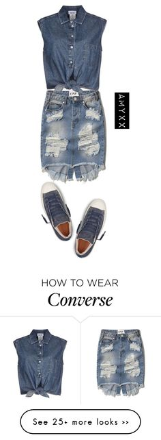 """""""#2730"""" by nineteen92 on Polyvore featuring Abercrombie & Fitch, Jean-Paul Gaultier and Converse"""